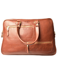 Aston Leather Blake Zippered Briefcase