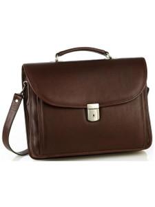 Aston Leather Sheldon Single Compartment Briefcase