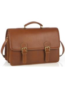 Aston Leather Morrison Double Compartment Briefcase