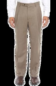 Berle Wool Flannel Pleated Pant