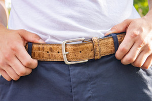 T. B. Phelps Travis Moc Croc Belt