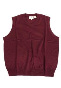 Viyella V-Neck Merino Wool Sleeveless Sweater