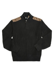 Viyella LS 1/4 Hidden Zip Mock Neck Cotton Sweater