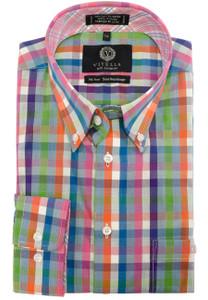Viyella Long Sleeve Button-Down Plaid Shirt in Fall Multi