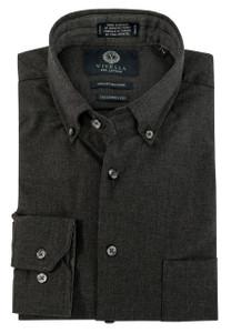 Viyella Long Sleeve Button-Down Sport Shirt in Grey