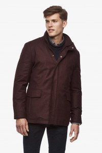 Cardinal of Canada McGuire Loro Piana Storm System Raincoat in Burgundy
