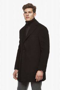 Cardinal of Canada LeClaire Cashmere Wool Blend Overcoat in Black