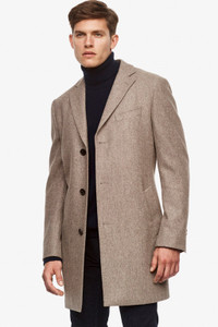 Cardinal of Canada Sterling Luxurious Wool Overcoat in Camel-Grey