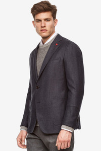 Cardinal of Canada Anderson Contemporary Fit Wool Sport Coat in Grey-Blue