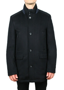 S. Cohen Crown Cashmere Coat in Black