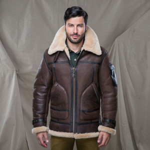 Cockpit USA Super Fortress Shearling Leather Coat