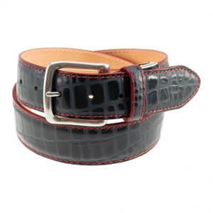 T. B. Phelps Curtis Moc Croco One Size Belt