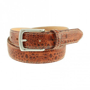 T. B. Phelps El Paso Croco Leather Belt