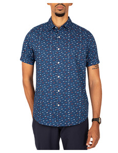 Cutter & Buck Windward Daub Print S/S Shirt