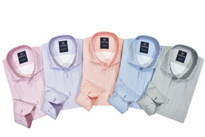 Marcello Easy Care Classic Mini Check Shirt