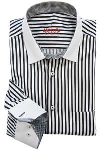 Marcello Accent Black Dress Shirt/Sport Shirt