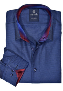 Marcello Royal Oxford Shirt in Navy