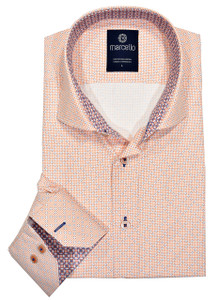 Marcello Neat Easy Care Shirt in Mango
