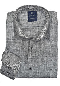 Marcello Charcoal Melange Sport Shirt