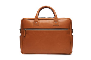 "Korchmar 15"" Redford Leather Laptop Briefcase"