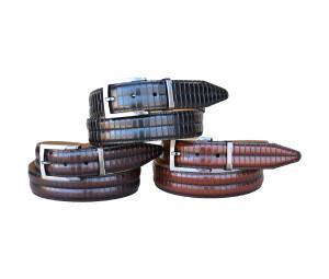 LeJon Piano Bar Leather Belt