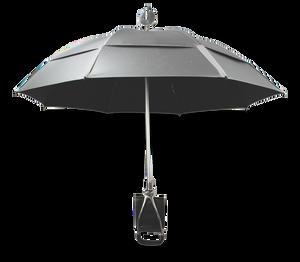 GustBuster Spectator SunBLOK Umbrella in Silver/Black