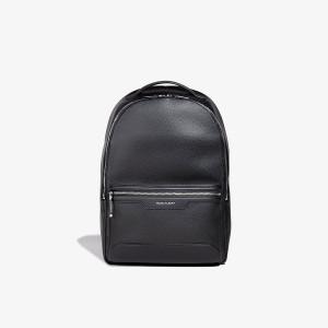 Hook & Albert Black Leather Backpack