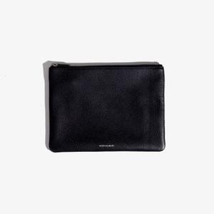 Hook & Albert Black Leather Organizational Pouch --Large
