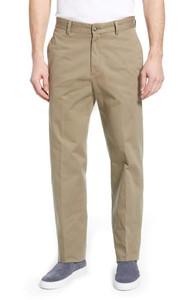 Berle Charleston Washed Khakis Flat Front--Regular Rise