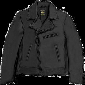 Golden Bear Brannan Moto Jacket in Black --Contemporary Fit