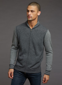 Autumn Cashmere Shawl Neck Bomber