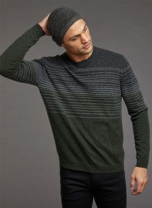 Autumn Cashmere Scattered Stripe Crew