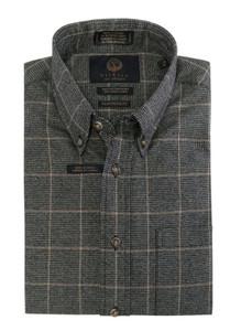 Viyella Long Sleeve Sport Shirt in Charcoal