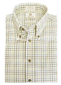 Viyella Long Sleeve Sport Shirt in Brown & Tan