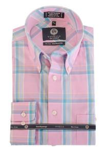 Viyella Button-Down Collar Long Sleeve No Iron Sport Shirt --Pink