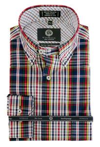 Viyella Button-Down Collar Long Sleeve No Iron Sport Shirt --Multi Colors
