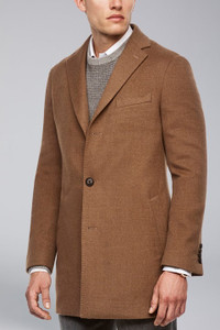Cardinal of Canada Seth Wool Overcoat in Tobacco