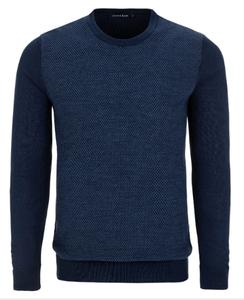 Stone Rose Navy Honeycomb Sweater