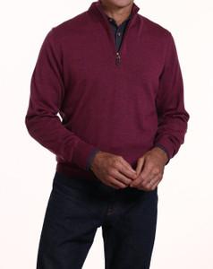 Romeo Merino Half-Zip Sweater in Sangria