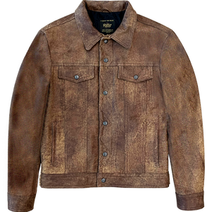 Golden Bear Holden Cowhide Leather Trucker Jacket