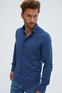 Stone Rose Blue Dry Touch Woven Shirt