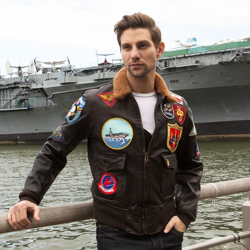 "Cockpit USA ""Movie Heroes"" Top Gun Navy G-1 Jacket"