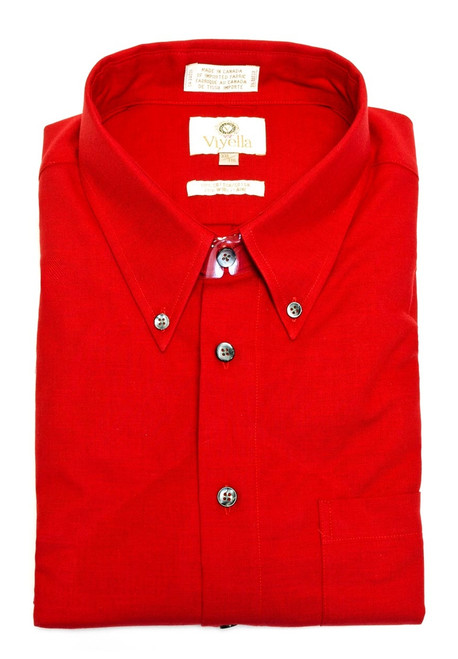 Viyella Long Sleeve Sport Shirt Red