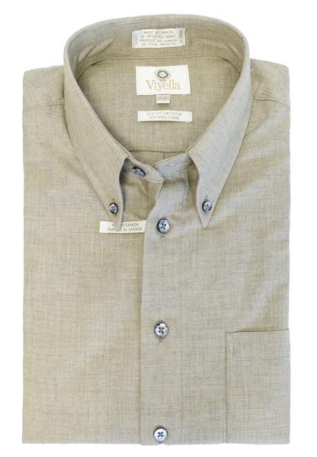 Viyella Long Sleeve Sport Shirt Shiitake