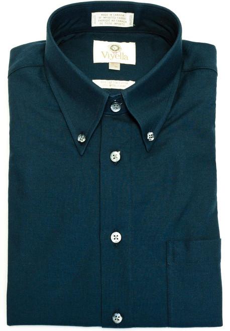 Viyella Long Sleeve Sport Shirt Navy