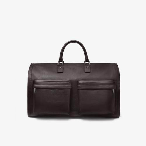 Hook & Albert Brown Leather Garment Weekender Bag