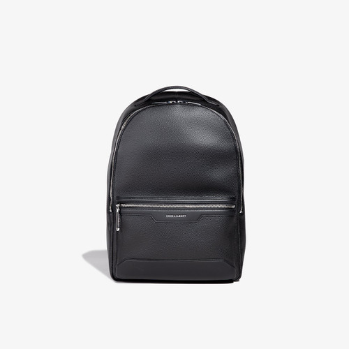 Hook & Albert Black Leather Backpack
