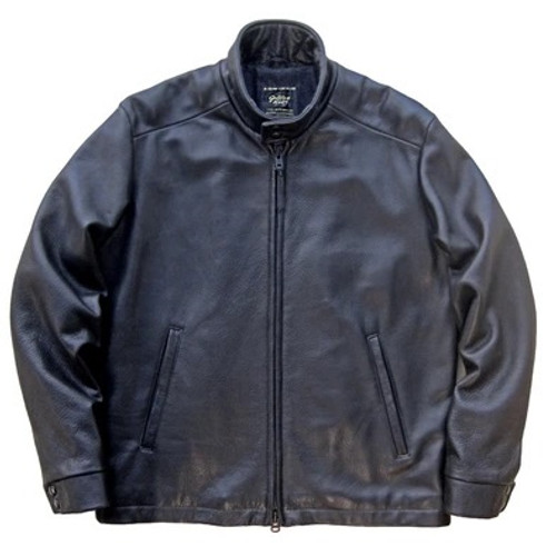 Golden Bear Rincon Leather Harrington Jacket in Black --Contemporary Fit