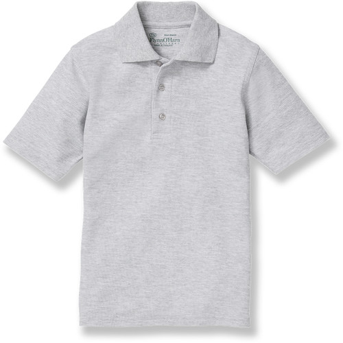 Short Sleeve Polo Shirt with embroidered logo [PA736-KNIT-QAW-ASH]