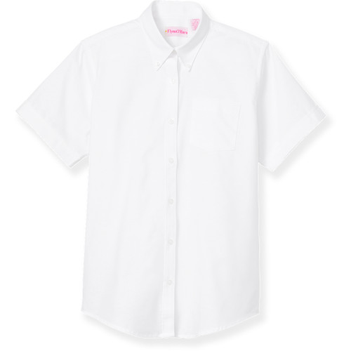 Short Sleeve Oxford Blouse [PA542-OXF-S/S-WHITE]